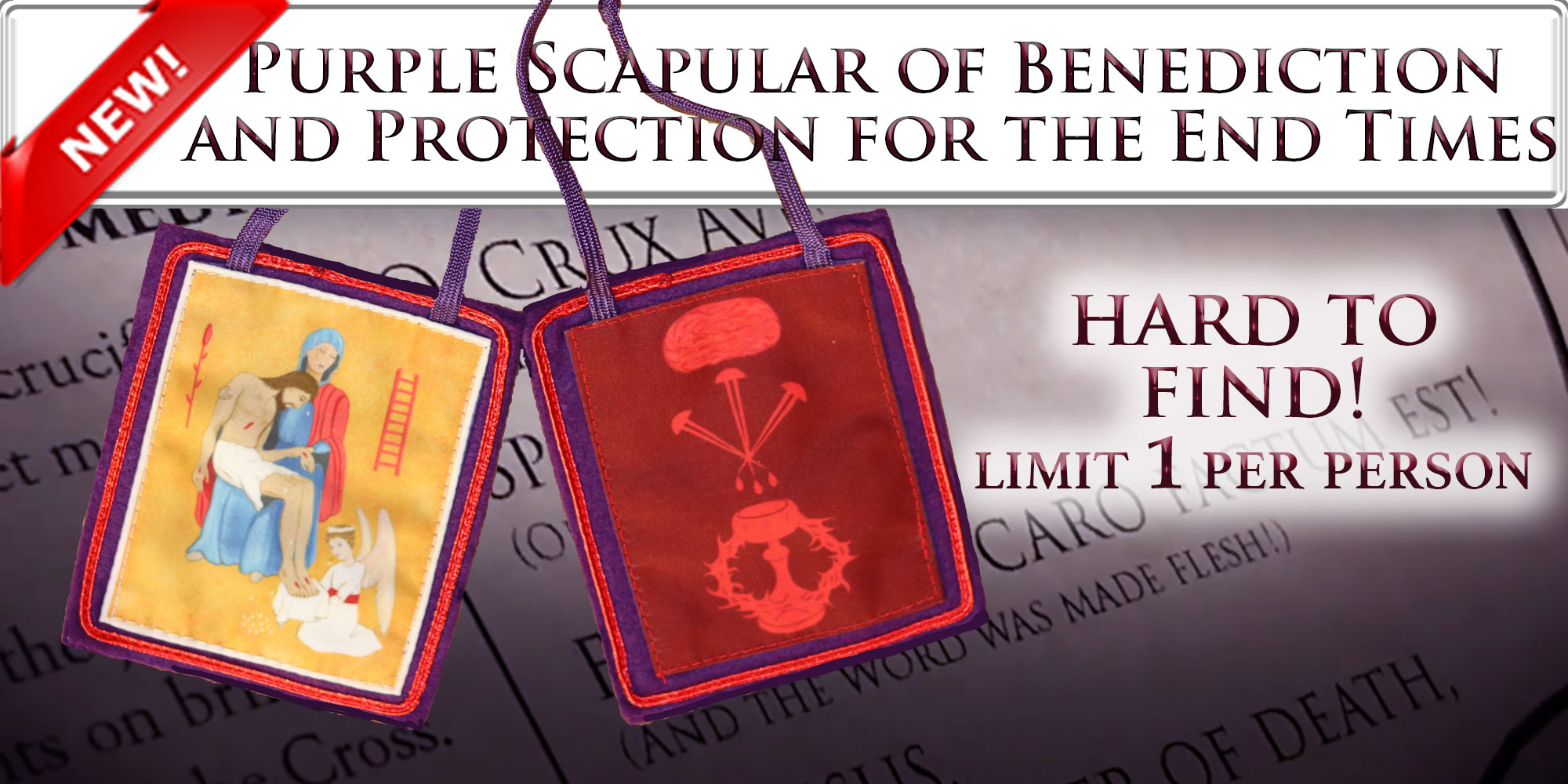 Purple Scapular of Blessing and Protection